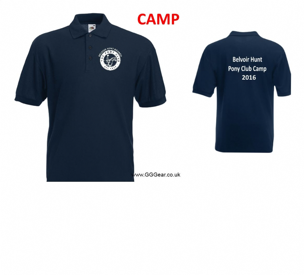 ADULT Belvoir 2018 CAMP Navy Polo Shirt